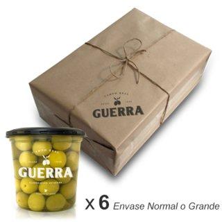 Aceitunas Manzanilla Sabor Anchoa - Pack 6 x 500gr ó 1,4 Kg