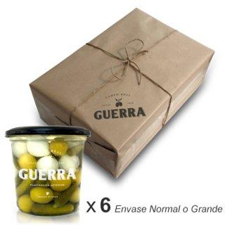 Cóctel Aceitunas Manzanilla - Pack 6 x 500gr ó 1,4 Kg