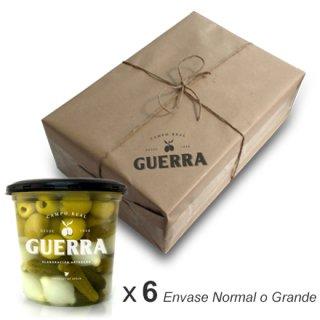 Cóctel Aceitunas Manzanilla Sin Hueso - Pack 6 x 500gr ó 1,4 Kg
