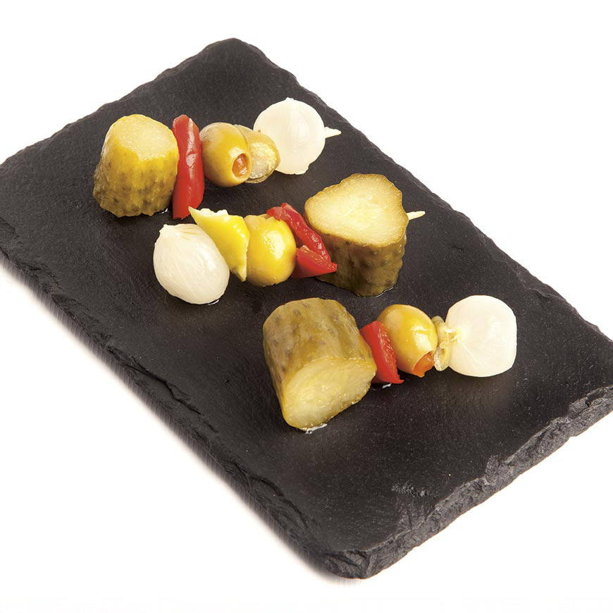 Pickled Vegetable Skewer