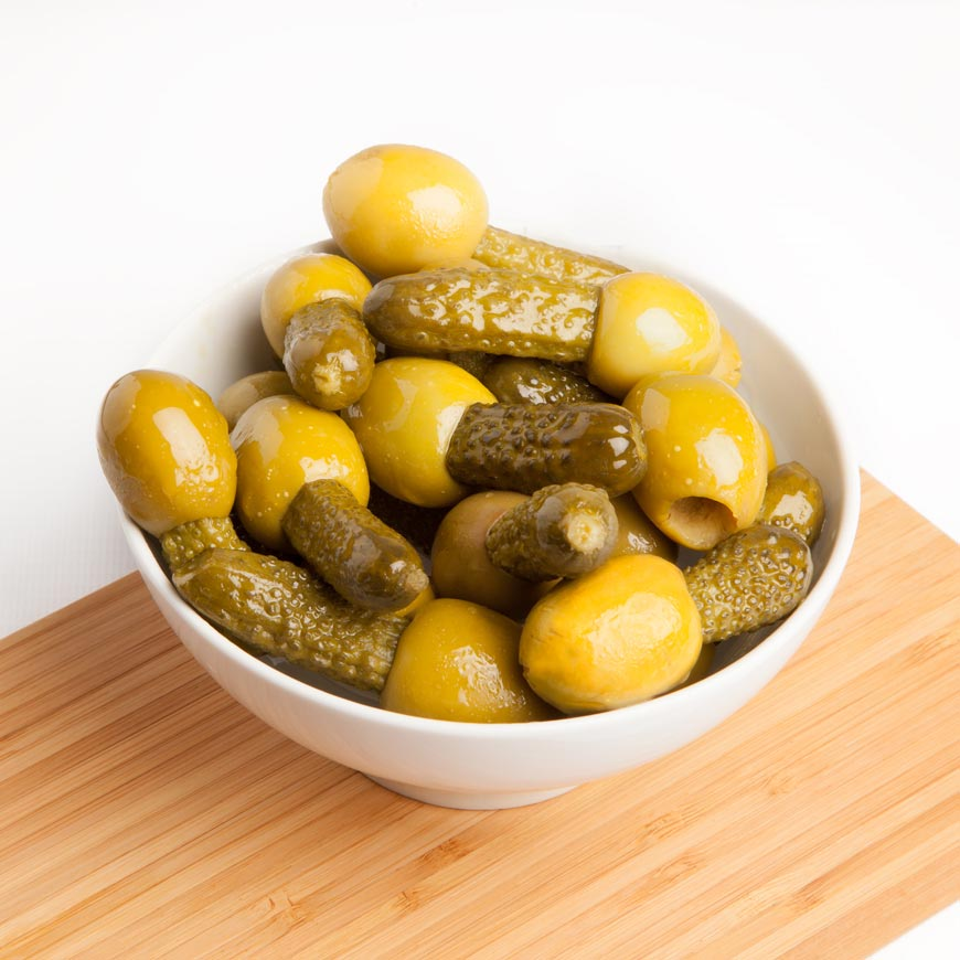 Gordal Olives with Gherkins