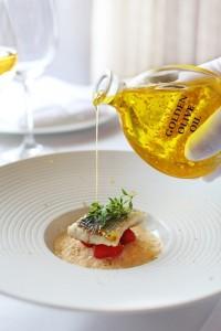 Aceite de oliva con oro comestible