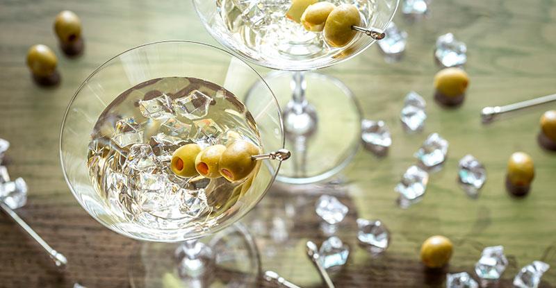 Maridaje con aceitunas martini