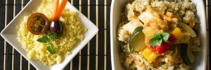 Ensalada de quinoa con aceitunas