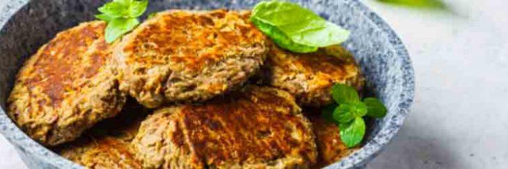 Hamburguesa vegana de altramuces